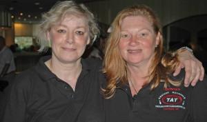 Platz 11 im Doppel: Margit und Andrea
