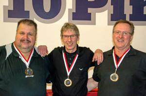 Medaillengewinner 2015 Balu (Bronze), Eero (Gold), Alfred (Silber)