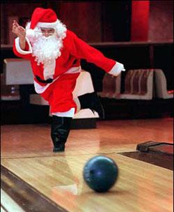 bowling-santa
